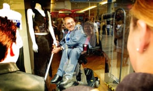 Sir Bert Massie making himself part of a shop window display in Manchester as part of an awareness-raising campaign in 2002, during his time as chairman of the Disability Rights Commission.
