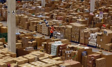 Amazon distribution centre near Swansea