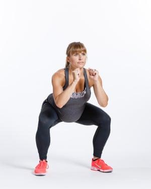 Wide squat.