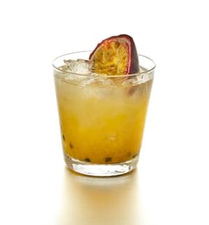 Masa and Mezcal's Mezcal Passion cocktail.
