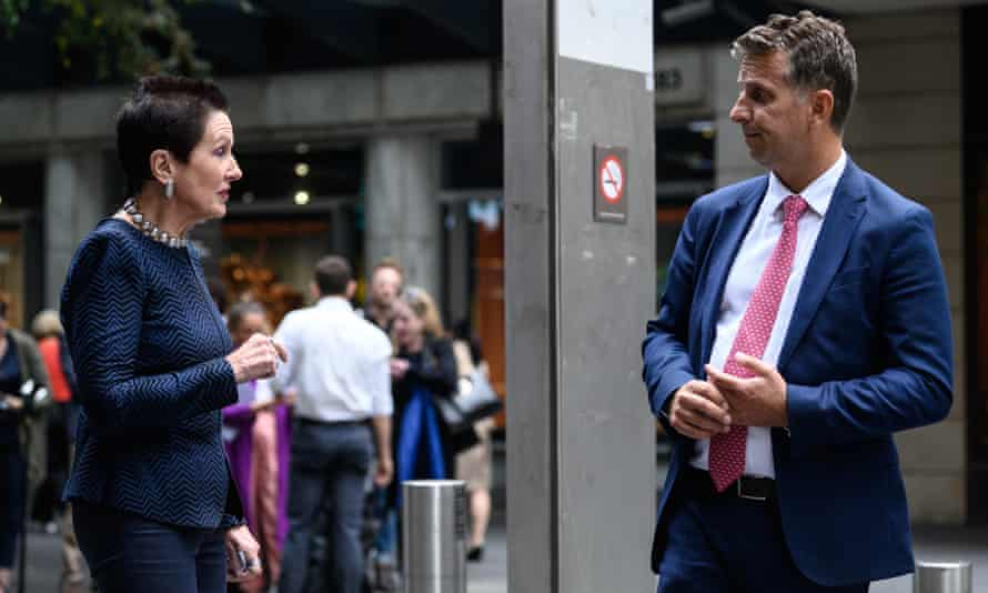 Clover Moore and Andrew Constance