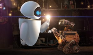 Chaplinesque … WALL-E with love interest EVE