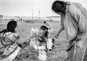 The winner in the Apache baby contest, Apache Junction, 1980.