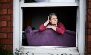 Tracy Briggs, at home in Chorlton, south Manchester, still struggles with symptoms 84 days after first contracting Covid-19.
