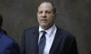 Harvey Weinstein exits after a hearing at New York state supreme court in New York City, on 11 July.