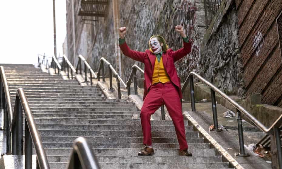 Step this way … Joaquin Phoenix in Joker.