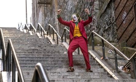 Joaquin Phoenix in a scene from Joker
