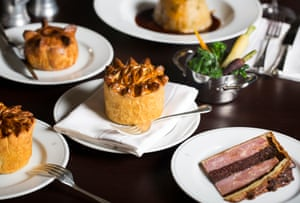 Professional-looking pies at the Holborn Dining Room.