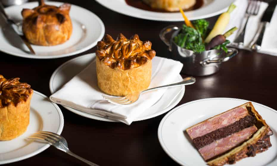 Posh pies from the Holborn Dining Room.