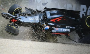 Fernando Alonso managed to walk away with only minor injuries from a serious crash during the season's opening race.