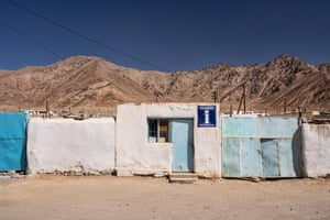 The tourist information office in Murghab, a former Soviet military outpost. The town's mini tourism boom ended after Covid and border conflict caused visitor numbers to drop and jobs to disappear.