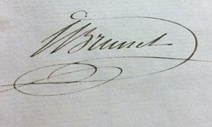 Brunel's signature
