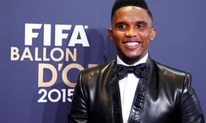 Samuel Eto'o pictured at the 2015 Ballon d'Or awards ceremony.
