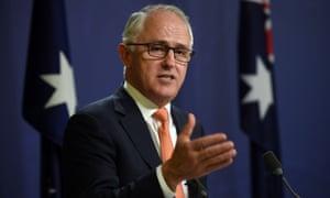 Australia's Prime Minister Malcolm Turnbull
