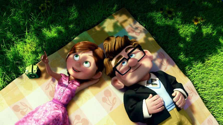 Profundamente conmovedores ... Ellie y Carl desde arriba.