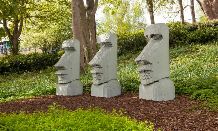 Easter Island statues at Legoland Windsor.