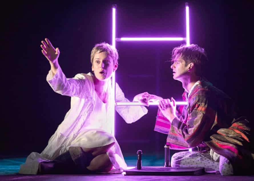 Denise Gough with Andrew Garfield in Angels in America at the National Theatre.
