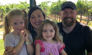 Nick, Alisha, Olivia and Annabelle Berry on 26 August 2018.