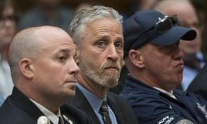 Jon Stewart at the hearing on Tuesday.