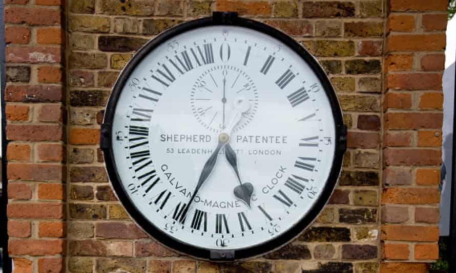 The Galvano-Magnetic 24-hour gate clock at the Royal Observatory, Greenwich.