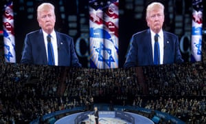 'I'm a newcomer to politics but not to backing Israel', Donald Trump said at the Aipac conference.