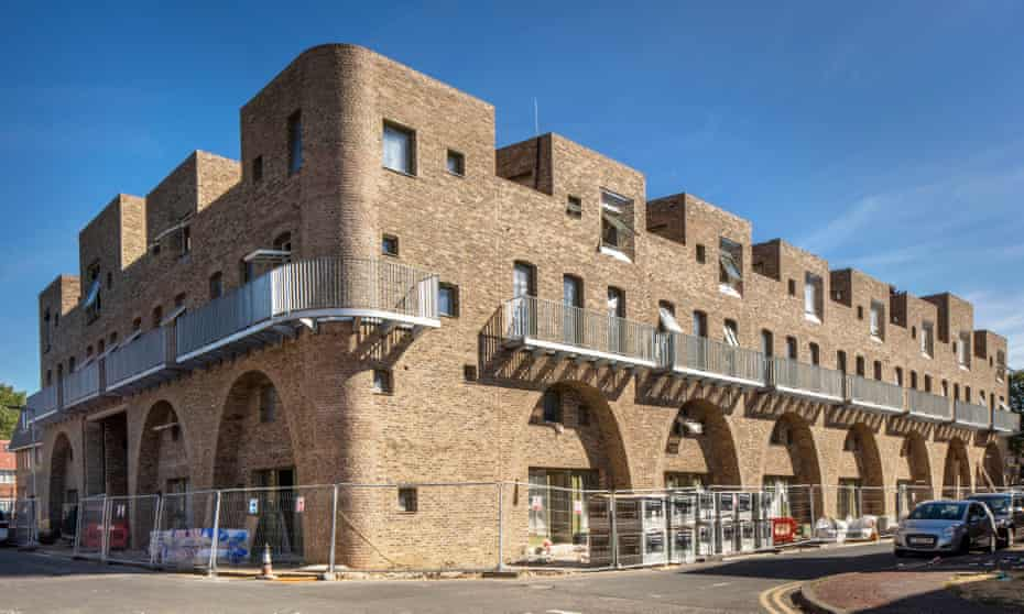 Rock the casbah … Peter Barber's latest project, in McGrath Road, Newham.