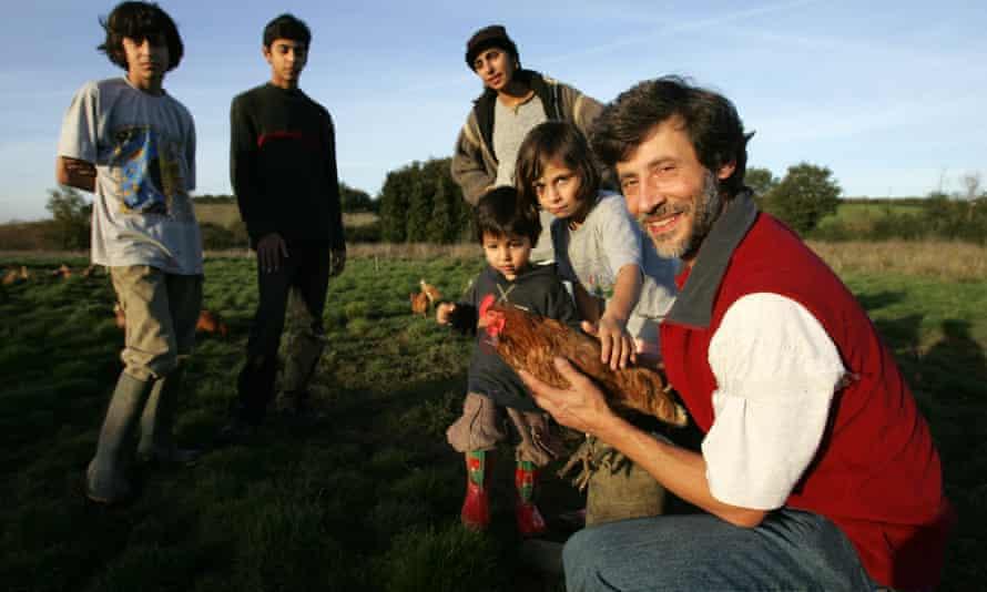 Lutfi Radwan with his family on his organic halal farm near Oxford.