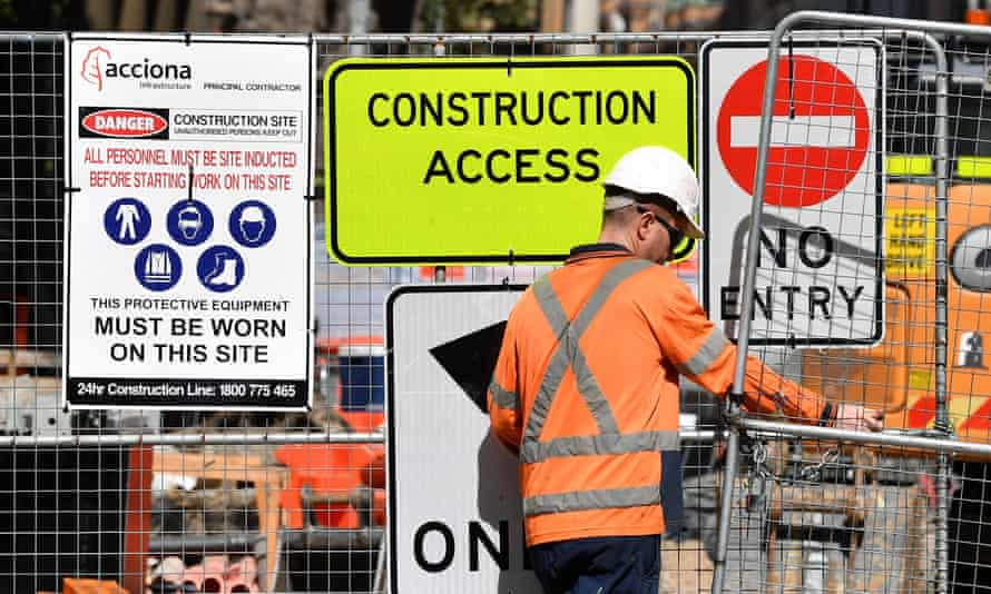 Sydney light rail work site