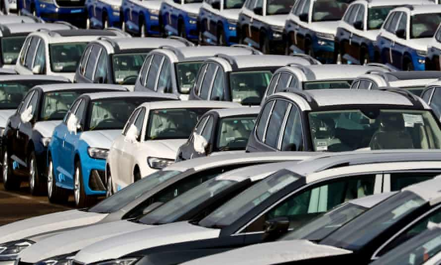 UK car sales in March were 203,000 down on the same month a year earlier, according to the Society of Motor Manufacturers and Traders.
