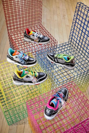 The new LV trainer Upcycling is made out of pre-existing LV Trainers from Abloh's debut collection are disassembled and reworked. The low-top silhouette, in five new vibrant colourways, features tie-dye laces. Fans of the brand and sneakerheads will love that no two pairs are the same and have additional DIY customisation options. POA, louisvuitton.com