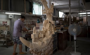 A mammoth ivory carving