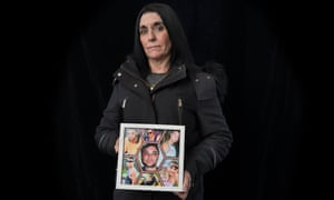 Jodie Reynolds with a photo of her son