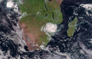 Cyclone Idai tracked over Mozambique on 15 March.