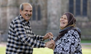 Emad Nor Eldeen and his wife, Rana Al Taweel