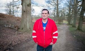 David Breakspear walking along country track
