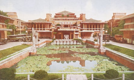 The Imperial Hotel in Tokyo by by Frank Lloyd Wright, built 1915-1922, survived 1923 earthquake, demolished 1967.