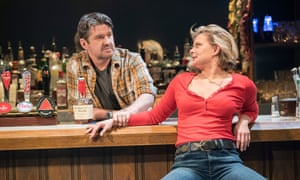 Martha Plimpton as Tracey with Stuart McQuarrie as Stan in Sweat.
