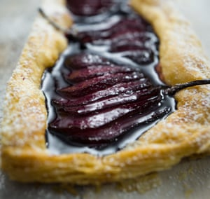 Mark Olive's Pear and Red Wine Tart