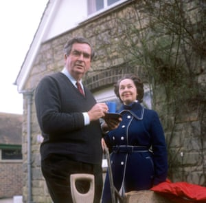 Denis Healey with his wife Edna at home in 1976.