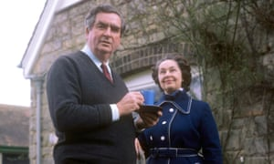 Edna Healey with her husband, the former Labour chancellor Denis Healey, at their country home in Sussex.