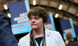 Arlene Foster, leader of the DUP, attends the Conservative party conference in Manchester.