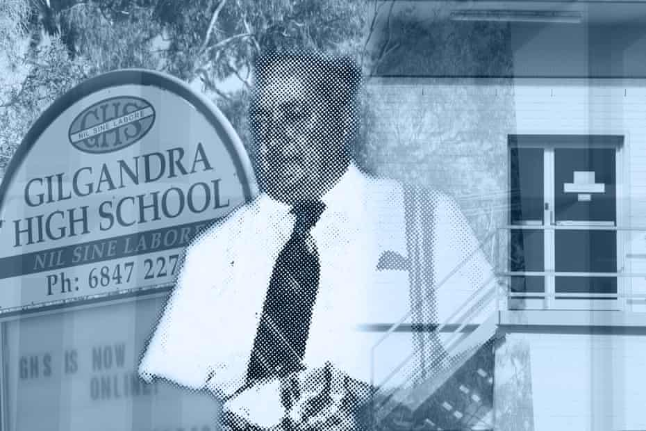 Composite of Gilgandra high school and Cletus O'Connor.