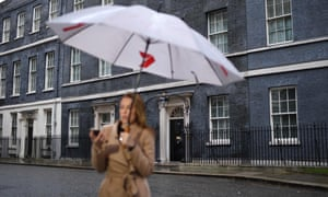 A journalist outside No 10