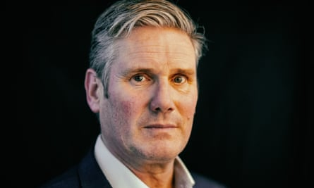 Keir Starmer, photographed in London at his temporary offices in Camden.