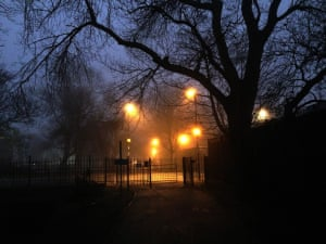 Misty nightA picture taken in the Burn Valley, Hartlepool Photograph: Tom Collins/GuardianWitness