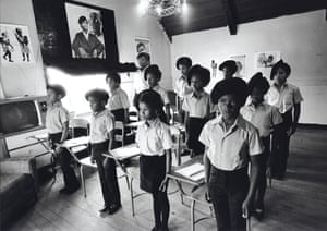 Black Panther children in a classroom at the Intercommunal Youth Institute, the Black Panther school in Oakland, California, 1971