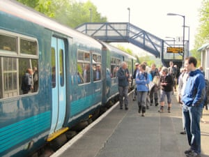Ramblers at Craven Arms station.
