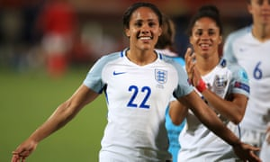 Alex Scott, in action for England against Portugal in July 2017, has been an assured voice as part of Team BBC