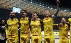 Dortmund celebrate victory