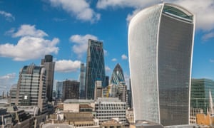The Walkie Talkie Building in London.